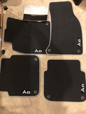 Audi A6 set of floor mats. Black cloth w/silver piping. BRAND NEW for Sale in Fairless Hills, PA