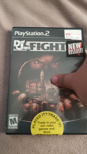 Def jam fight for ny PS2 for Sale in Alexandria, VA