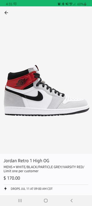 Jordan 1 smoke grey size 10 and a 6y for Sale in Irving, TX