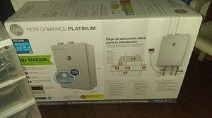 Reem tankless water heater brand new in box. Never run out of hot water again with this unit. for Sale in Houston, TX