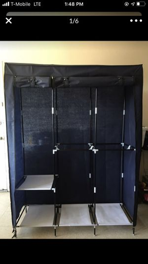 Double Rod clothing shelve storage for Sale in Orange, CA