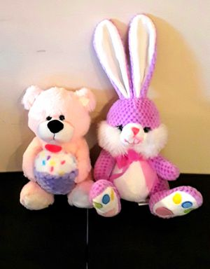 Stuffed animals kids good condition bunny and bear. for Sale in Norfolk, VA