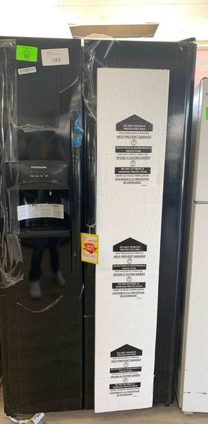 New Frigidaire Refrigerator! Side by side! Black! With warranty! S for Sale in Houston, TX