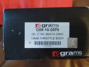 Grams performance 70mm DWB throttle body for NC 2008-2015 mazda miata for Sale in Panama City, FL