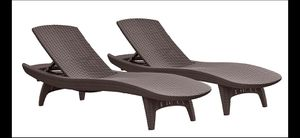 Set of two San lounge outdoor chairs for Sale in Los Angeles, CA