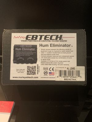 EBTech Hum Eliminator for Sale in Richmond, TX