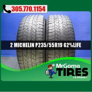 2 MICHELIN LATITUDE TOUR HP 235/55/19 USED TIRES NO PATCH ACURA AUDI GMC 2355519 for Sale in Miami, FL
