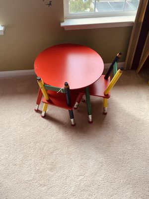 Three-piece kids brown play desk. for Sale in Woodbridge, VA