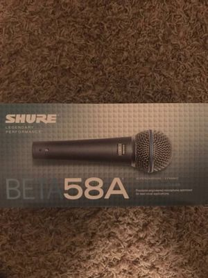 Microphone shure BETA 58A for Sale in Chico, CA