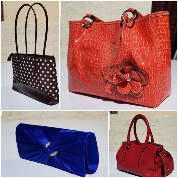 Assorted purses (1 is a Kate Spade)