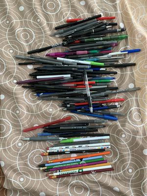 90 pens and 20 pencils all for $8 for Sale in Elk Grove Village, IL