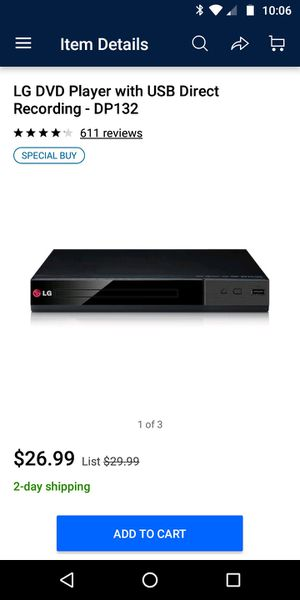 LG DVD player DP 132 for Sale in Houston, TX