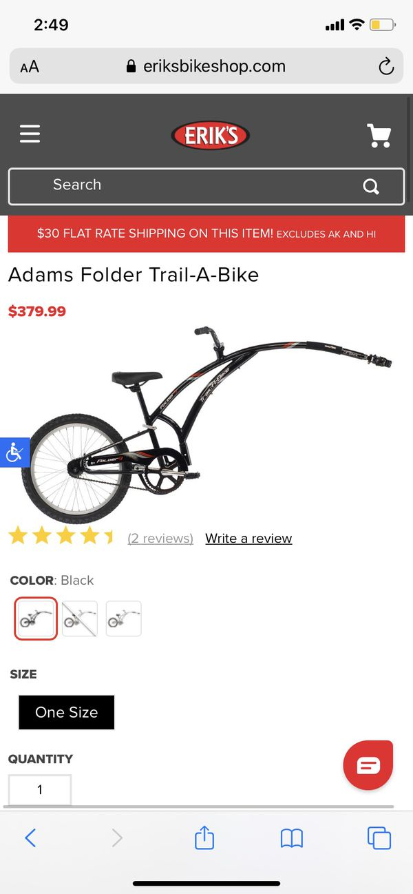 Kids tandem Trailer- Trail a bike