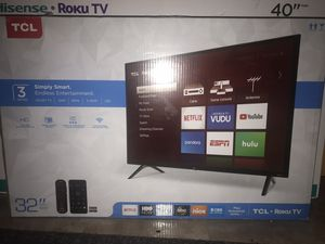 """TCL 32"""" HD (720P) Roku Smart LED TV (32S321) NEW for Sale in Cleveland, OH"""