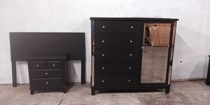 4 piece black bedroom set delivery available for Sale in Mableton, GA
