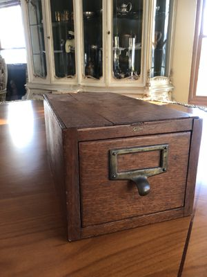 Antique Globe filing cabinet Drawer for Sale in Danvers, MA