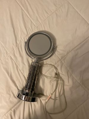 Makeup Mirror with Light and Fan for Sale in San Diego, CA
