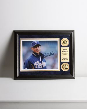 SIGNED BUD BLACK PLAQUE Display San Diego Padres Coin Petco Park Print Baseball for Sale in Mesa, AZ