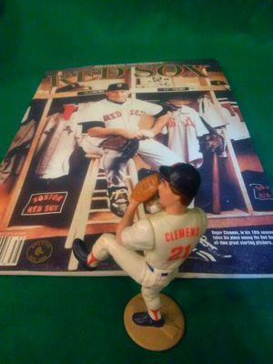 Roger Clemens action figure & Red Sox 83 year book for Sale in Boston, MA