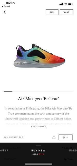 Air Max 720 Be True for Sale in Smyrna, TN