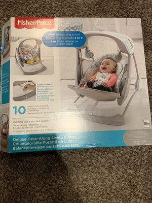 Deluxe take along baby swing & seat for Sale in Yukon, OK