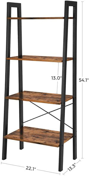 Rustic Brown 4 Tier Industrial Ladder Shelf for Sale in Chino, CA