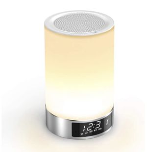 Touch Bedside Lamp with Bluetooth Speaker, Romantic Dimmable Color Night Light, Outdoor Table Lamp with Smart Touch Control, Best Gift for Men Women for Sale in Carson, CA