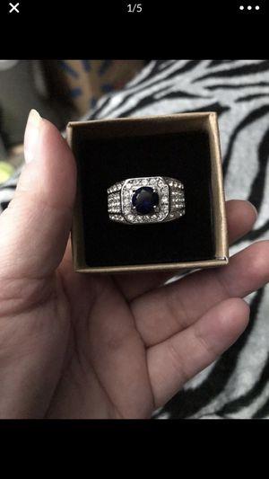 Nice men's stainless steel wedding ring with ring box for Sale in San Bernardino, CA