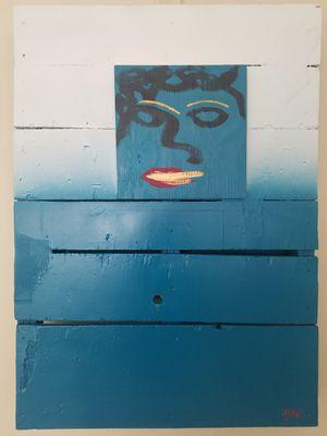 Original abstract art on wood pallet for Sale in Atlanta, GA