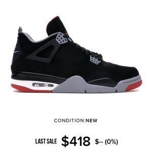Air Jordan IV bred size 8 used for Sale in City of Industry, CA