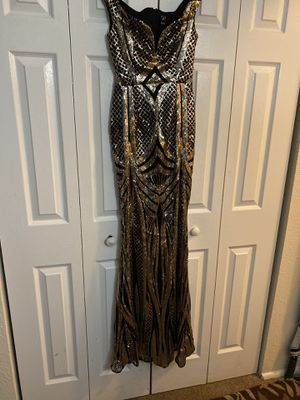 Black and gold Sequin dress (Windsor)(xs) for Sale in Silver Spring, MD