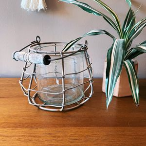 Wire And Glass Candle Or Plant Holder for Sale in Seal Beach, CA