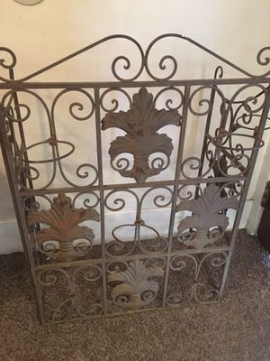 Ornate Metal Screen Candleholder with Great Patina for Sale in Claremont, CA