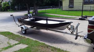 Custom made fishing boat three compartments no engine it was just built with trailer for Sale in Dallas, TX