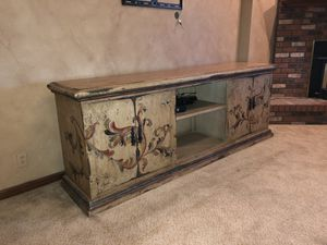 Pottery Barn TV Cabinet Credenza Buffet Rustic Off White Entertainment Center for Sale in Scottsdale, AZ