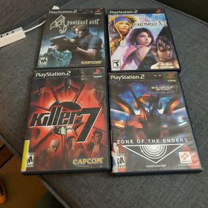 Ps2 Game Combo (Resident Evil 4, Zone Of Enders, Ffx 2, Killer 7) for Sale in Federal Way, WA