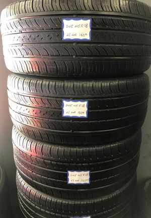 👨🏻🔧🚘SET OF 4 USED TIRES👨🏻🔧🚘 245/45/18 CONTINENTAL for Sale in Bellflower, CA