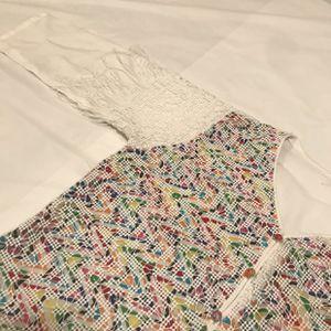Pakiatani indian white fringe kurta shirt for Sale in Stockton, CA