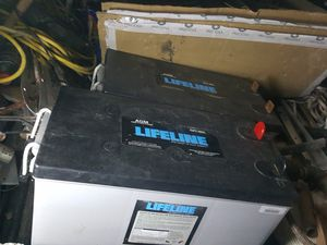 Lifeline battery 12volts 255ah gel for Sale in Delray Beach, FL