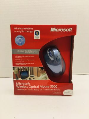 New Microsoft Wireless Optical Mouse 3000 Winter Blue for Sale in Spring Hill, FL