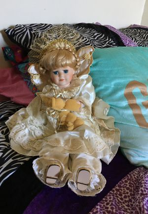 Porcelain angel doll for Sale in Roanoke, VA