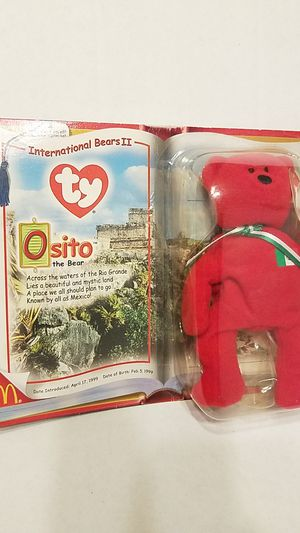 Ty Osito International Bears Beanie Baby McDonalds for Sale in Kissimmee, FL