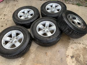 Rims 17 for ram 5 holes come spare tires low life for Sale in Dallas, TX