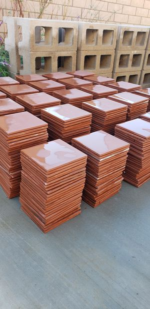 ***MUST GO TODAY *** 595 pieces / 150ft² of beautiful Red 6in X 6in Quarry wall and floor tiles for Sale in Rancho Cucamonga, CA