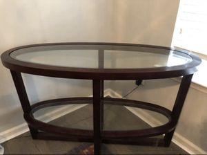 Espresso console table for Sale in Lakehurst, NJ