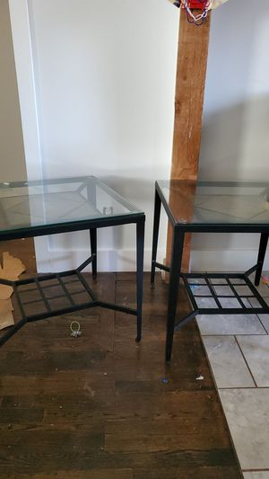 Glass end tables for Sale in Brevard, NC