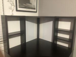 Black/brown desk for Sale in West Jordan, UT