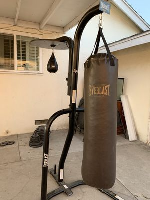Everlast Punching Bag with Stand and Speed Bag for Sale in West Covina, CA