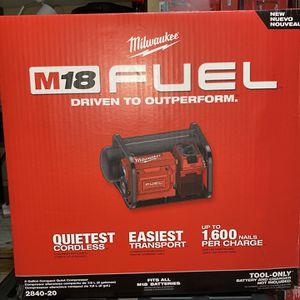 Milwaukee compressor for Sale in Austin, TX