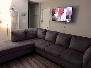 LIKE NEW 2 PIECE Sectional Couch for Sale in Sacramento, CA